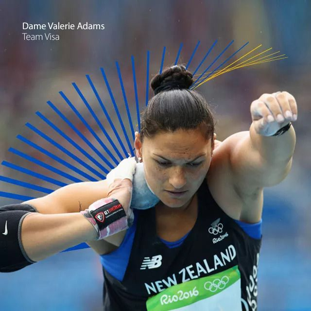 Dame Valerie Adams - Team Visa